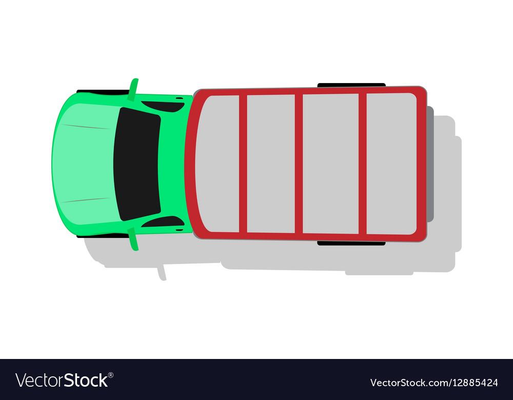 Car Van Top View Flat Design