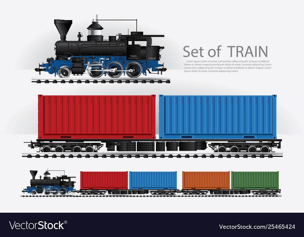 Cargo train on a rail road