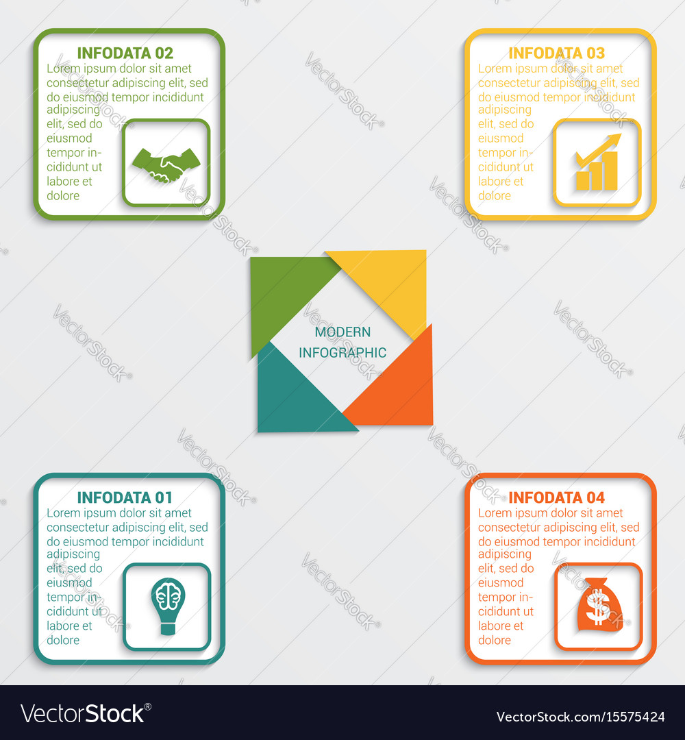 Colour triangles 4 options vector image