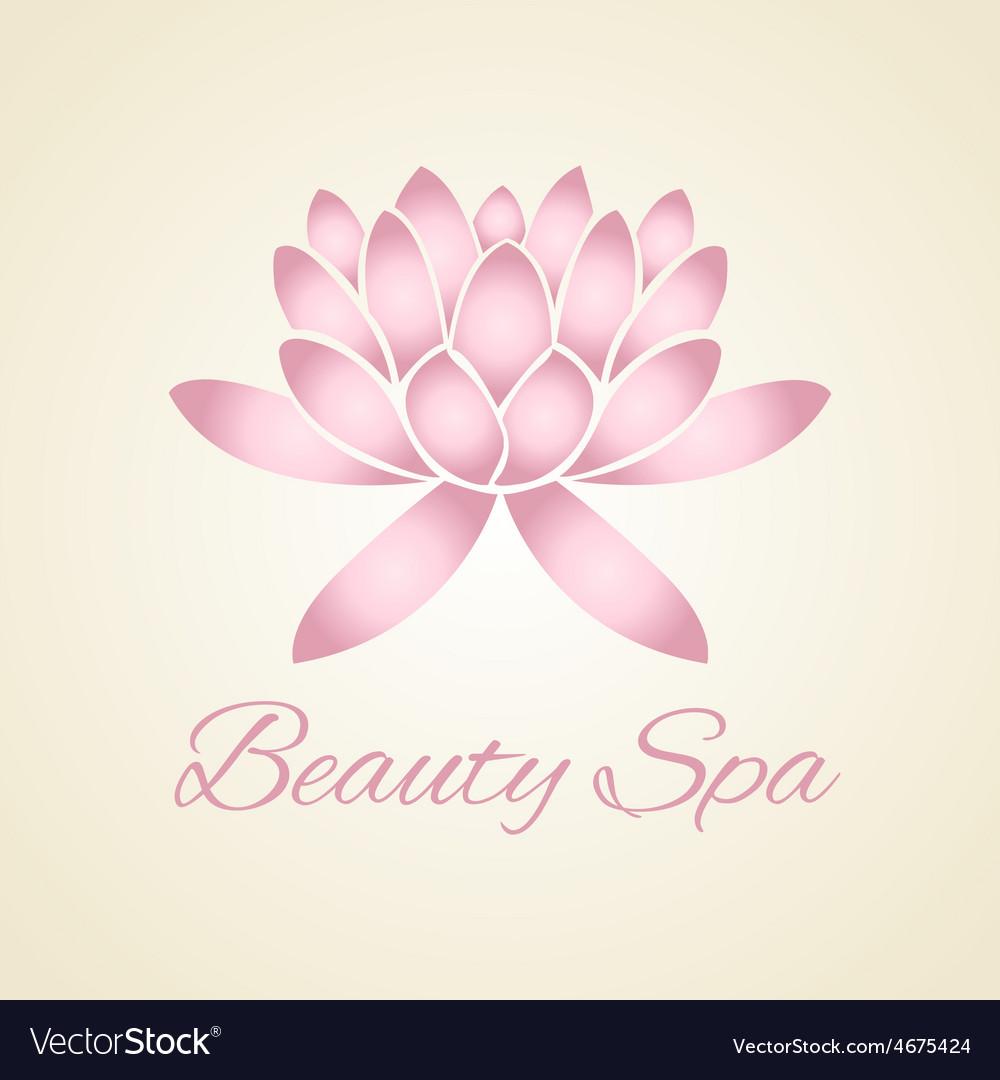 Lotus flower abstract logo design royalty free vector image lotus flower abstract logo design vector image mightylinksfo