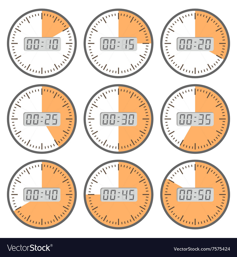 Movements and watches vector image