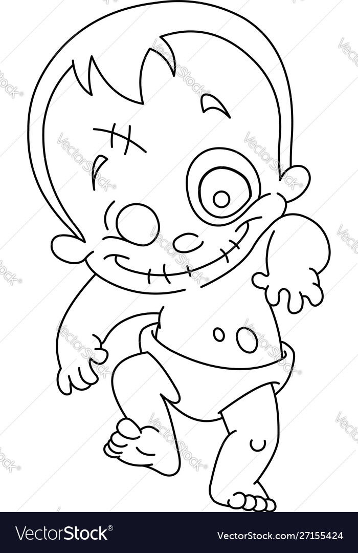Outlined zombie baby