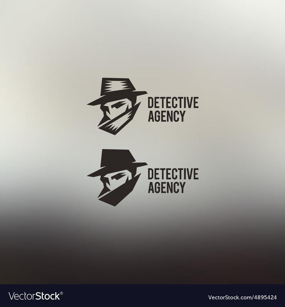 Private detective logo vector image
