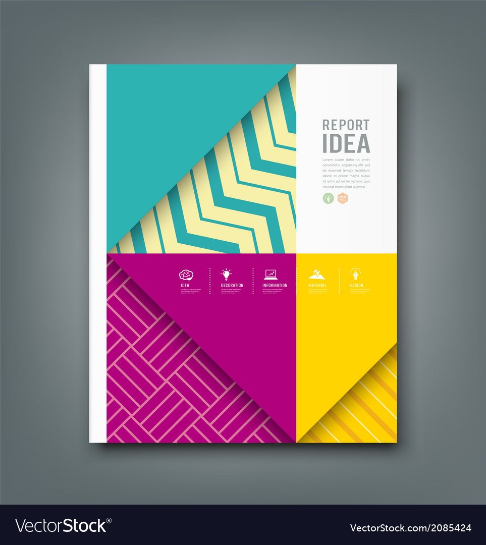 Report design colorful pattern fabrics background