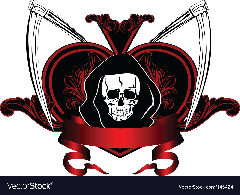 Skull and plaits