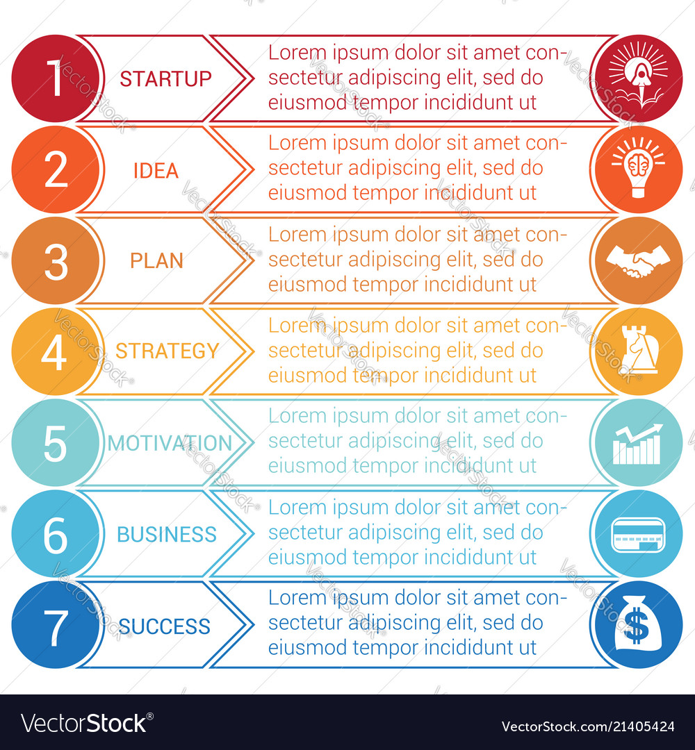 Startup bussines minimal infographic circles