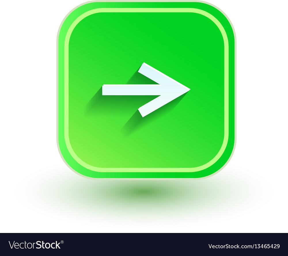 Arrow icon flat design right direction