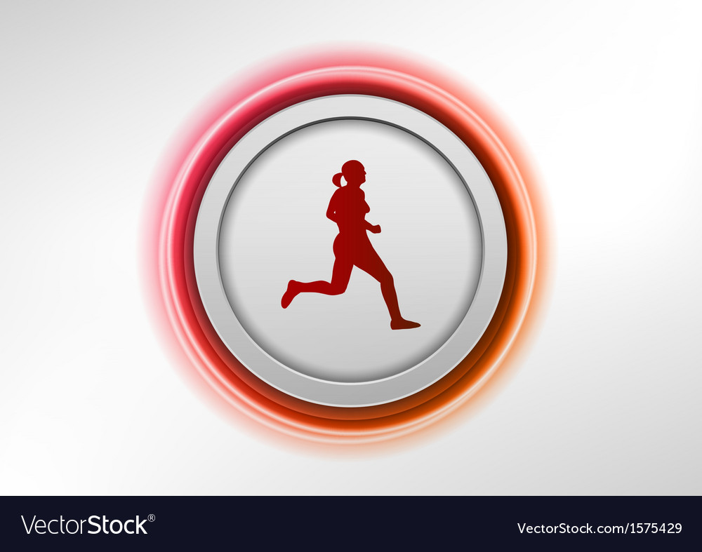 Circle red with runner
