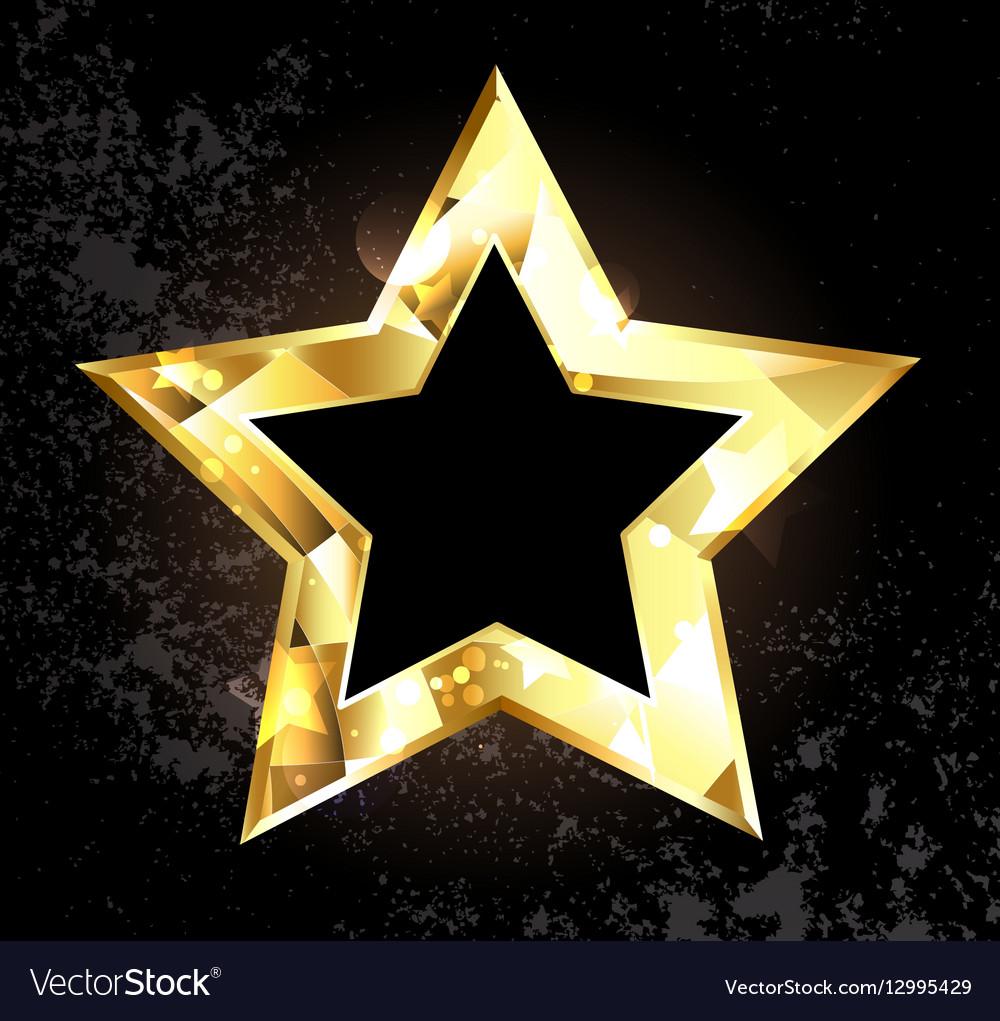 Gold Polygonal Star