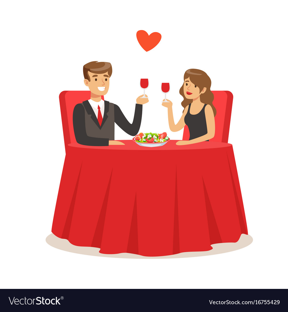 Happy elegant couple sitting in a cafe man and