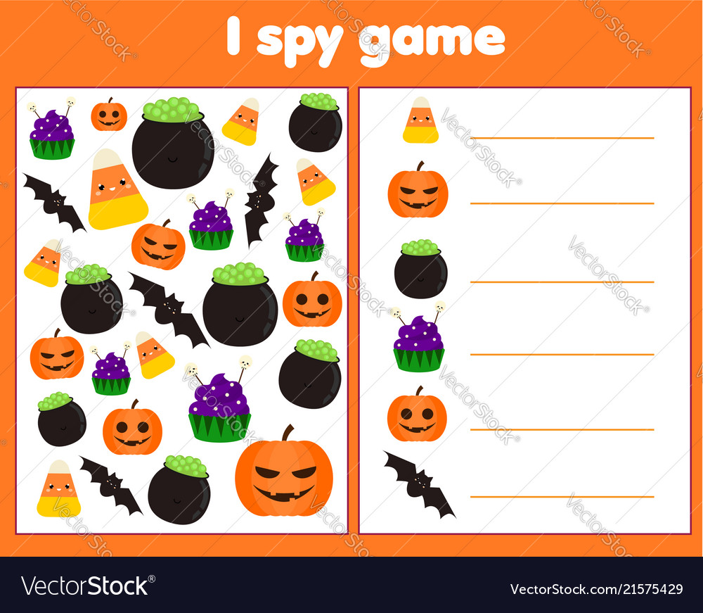 I spy game for toddlers find and count objects