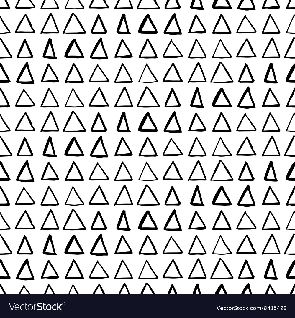 Ink pattern with triangles