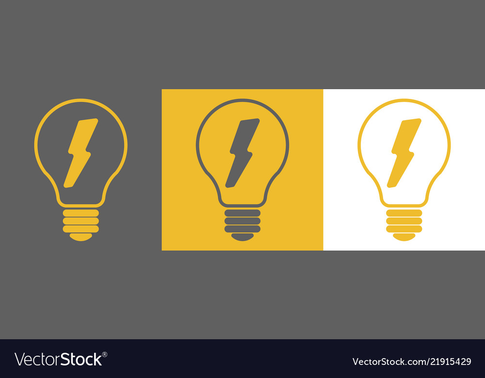 Light bulb outline icons with dots around