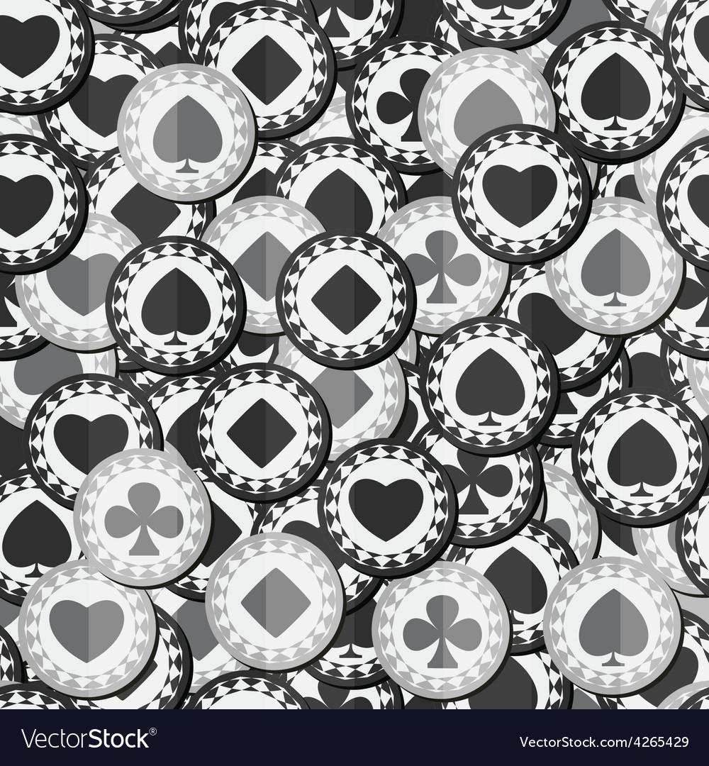 Monochrome poker chips seamless texture