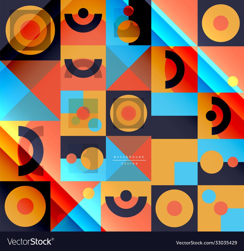 Neo memphis geometric pattern with circles