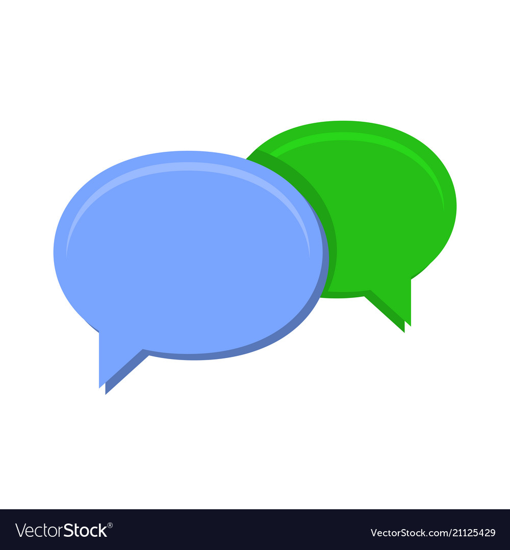 Speech chat bubbles on white background