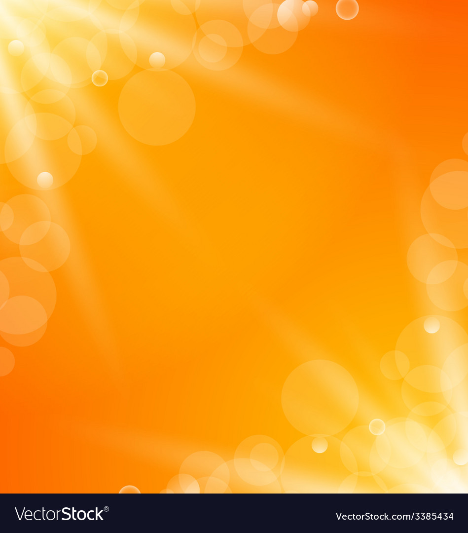 Abstract orange bright background with sun light