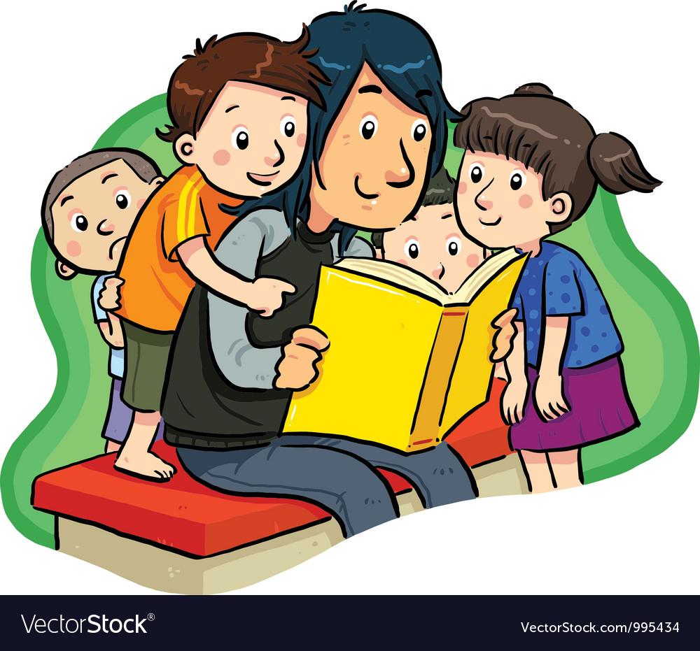 Reading A Book Royalty Free Vector Image - VectorStock