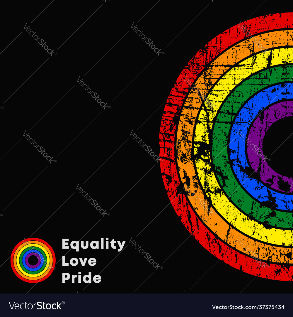 Equality love pride lgbt slogan colorful poster