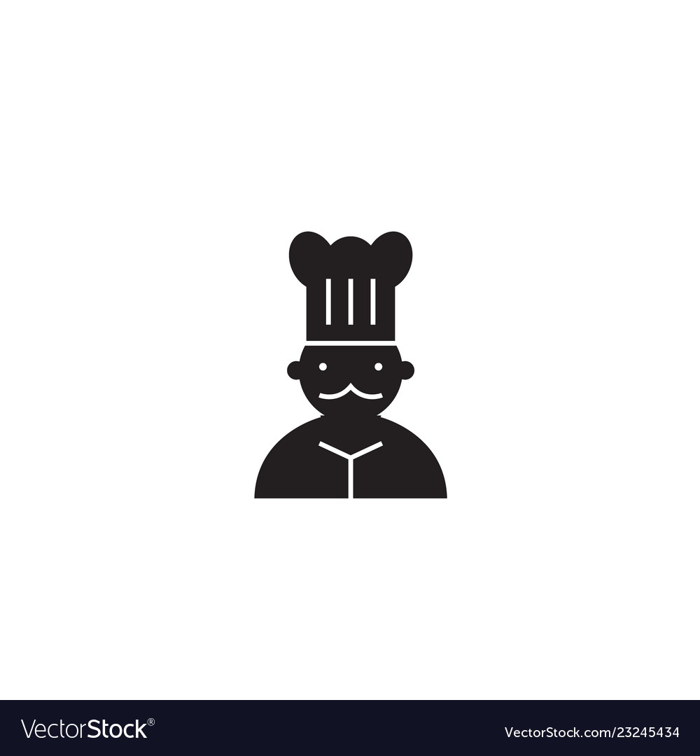 French chef black concept icon french chef