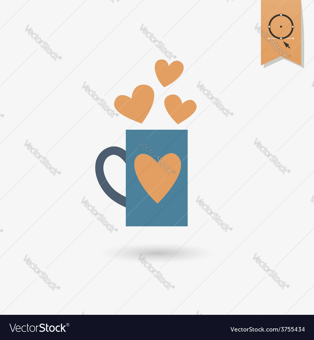 Happy Valentines Day Icon Royalty Free Vector Image