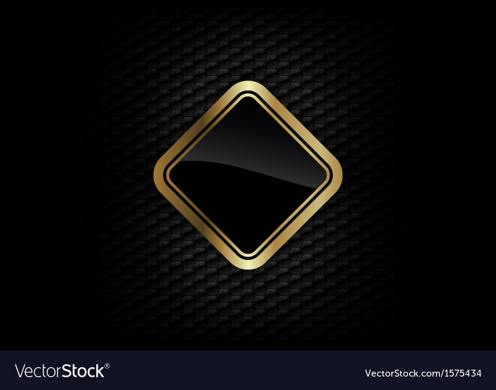 Hexagon background with gold frame