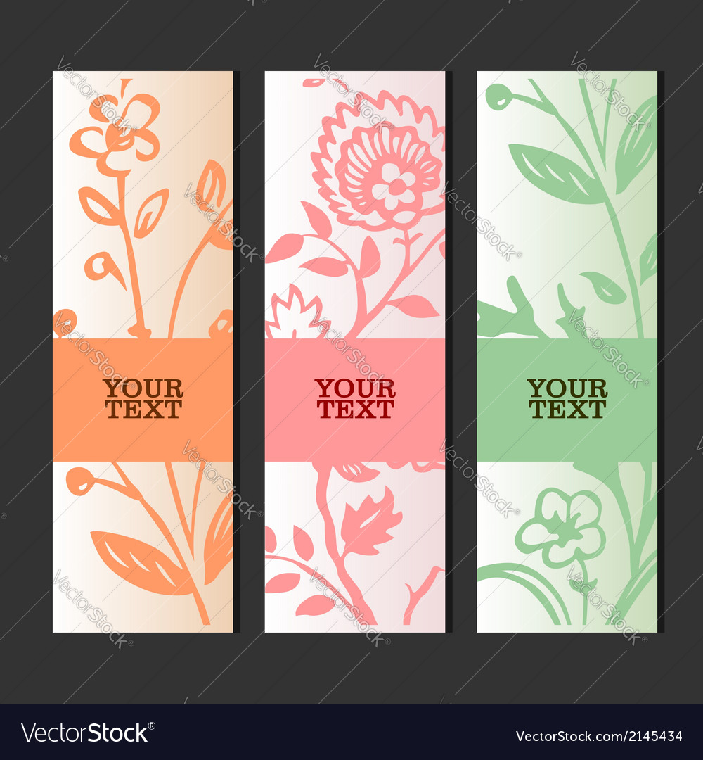 Invitation or greeting card with floral background