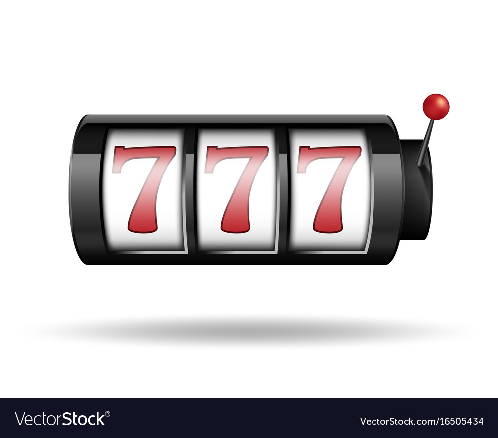 Slot machine with lucky sevens gamble game for vector image