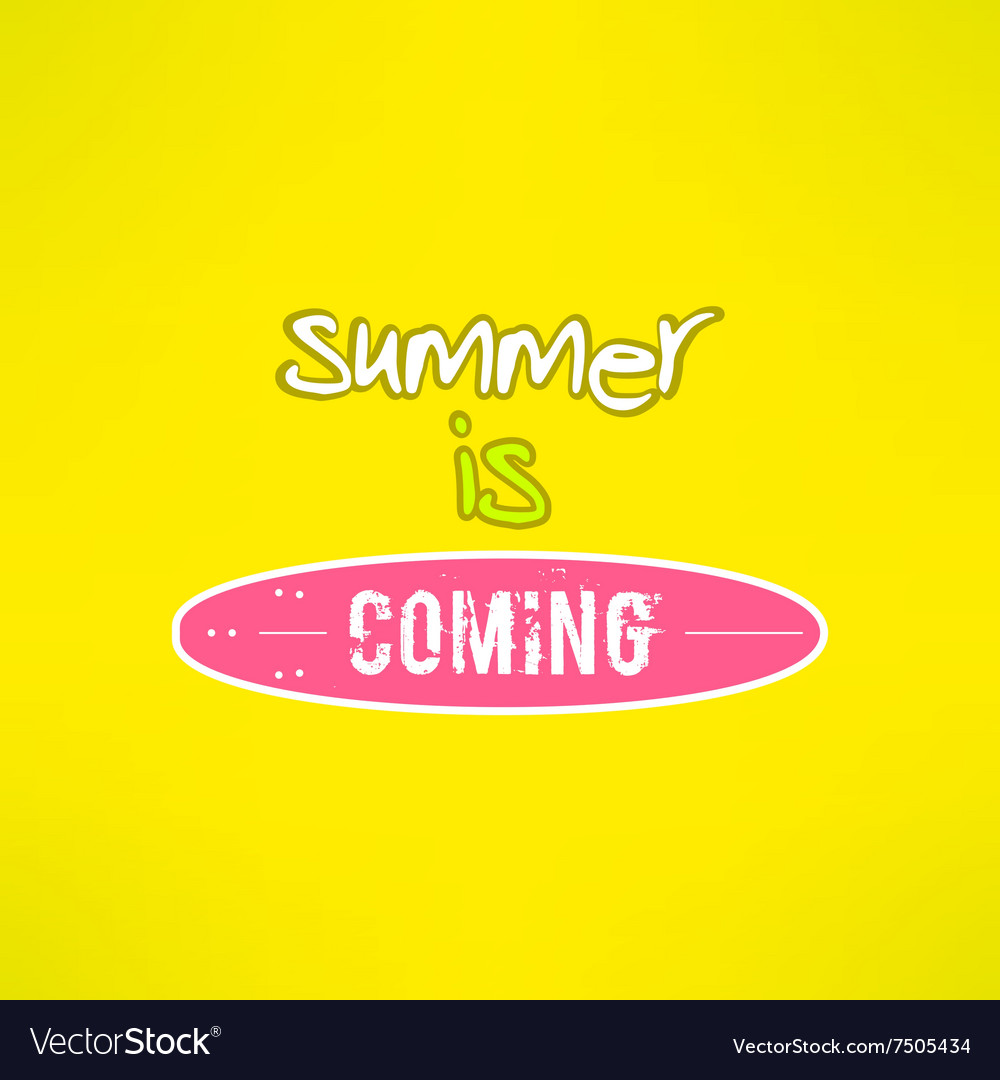 Surfing summer lettering inspirational vector image