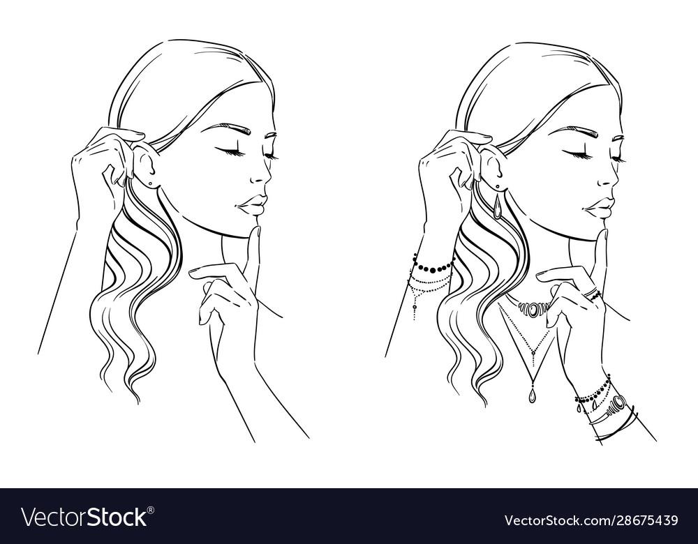 Beauty fashion portrait a woman
