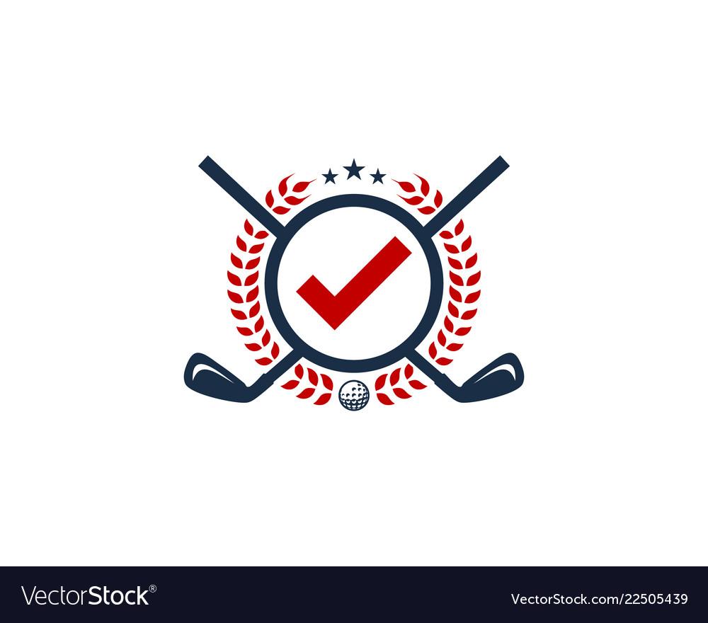 Check golf logo icon design