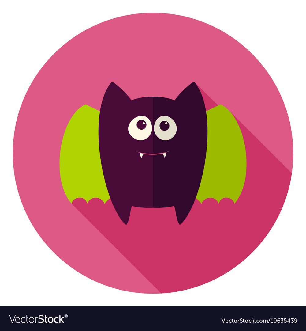 Cute Bat Circle Icon
