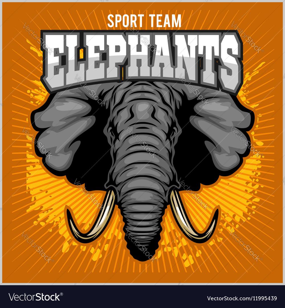 Elephants - sport club team symbol Safari hunt