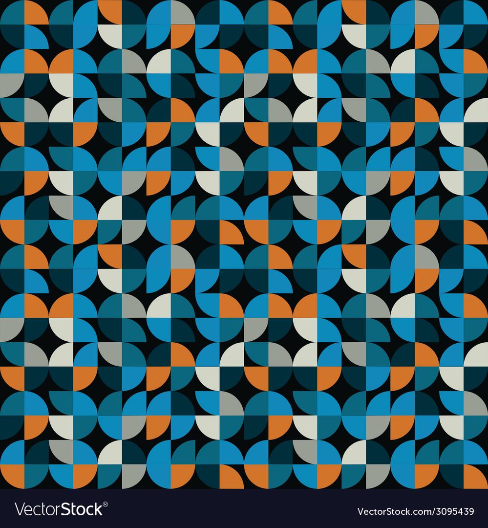 Geometric seamless mosaic tiles pattern Royalty Free Vector