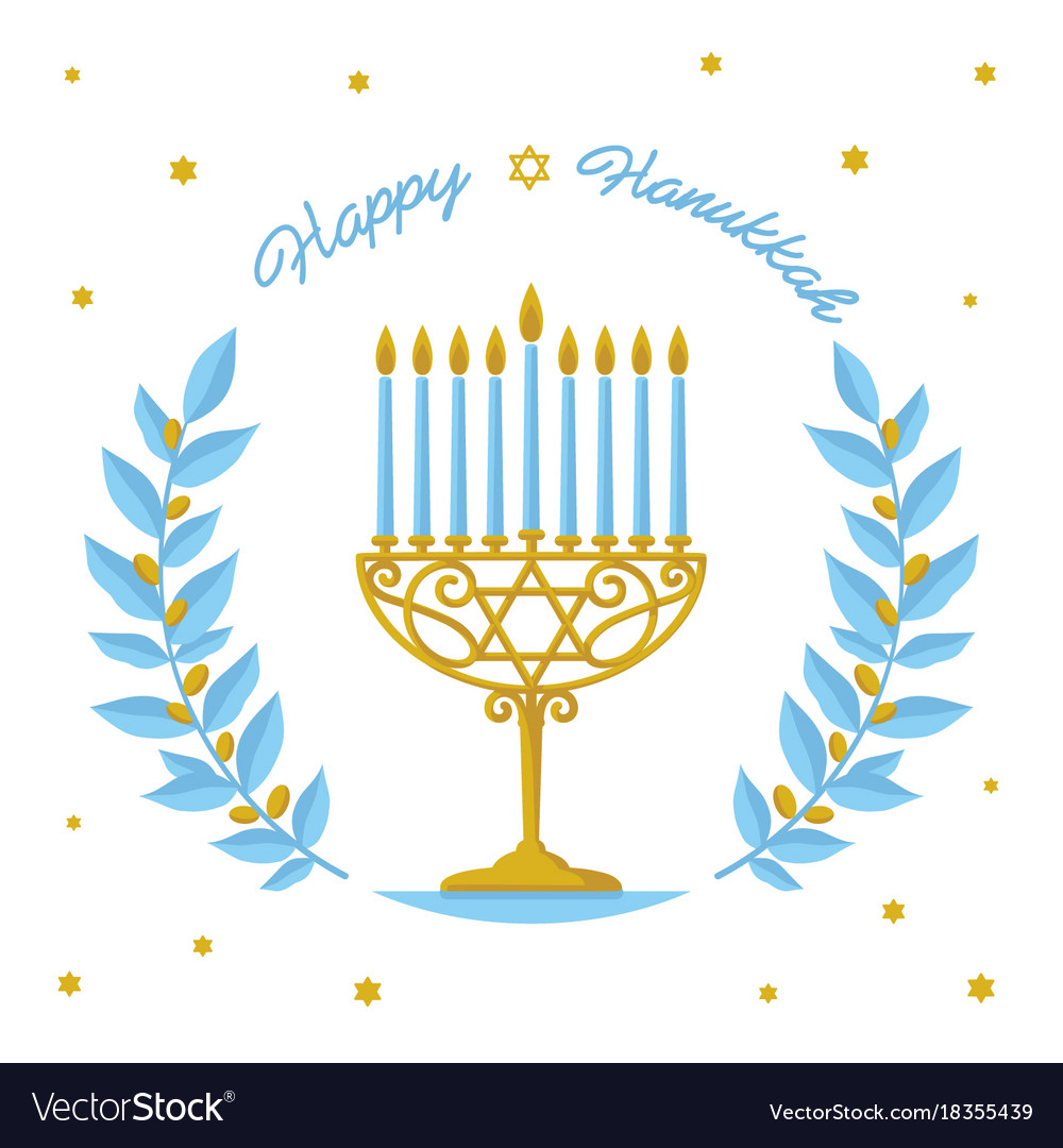 Hanukkah Design Happy Hanukkah Greeting Vector Image