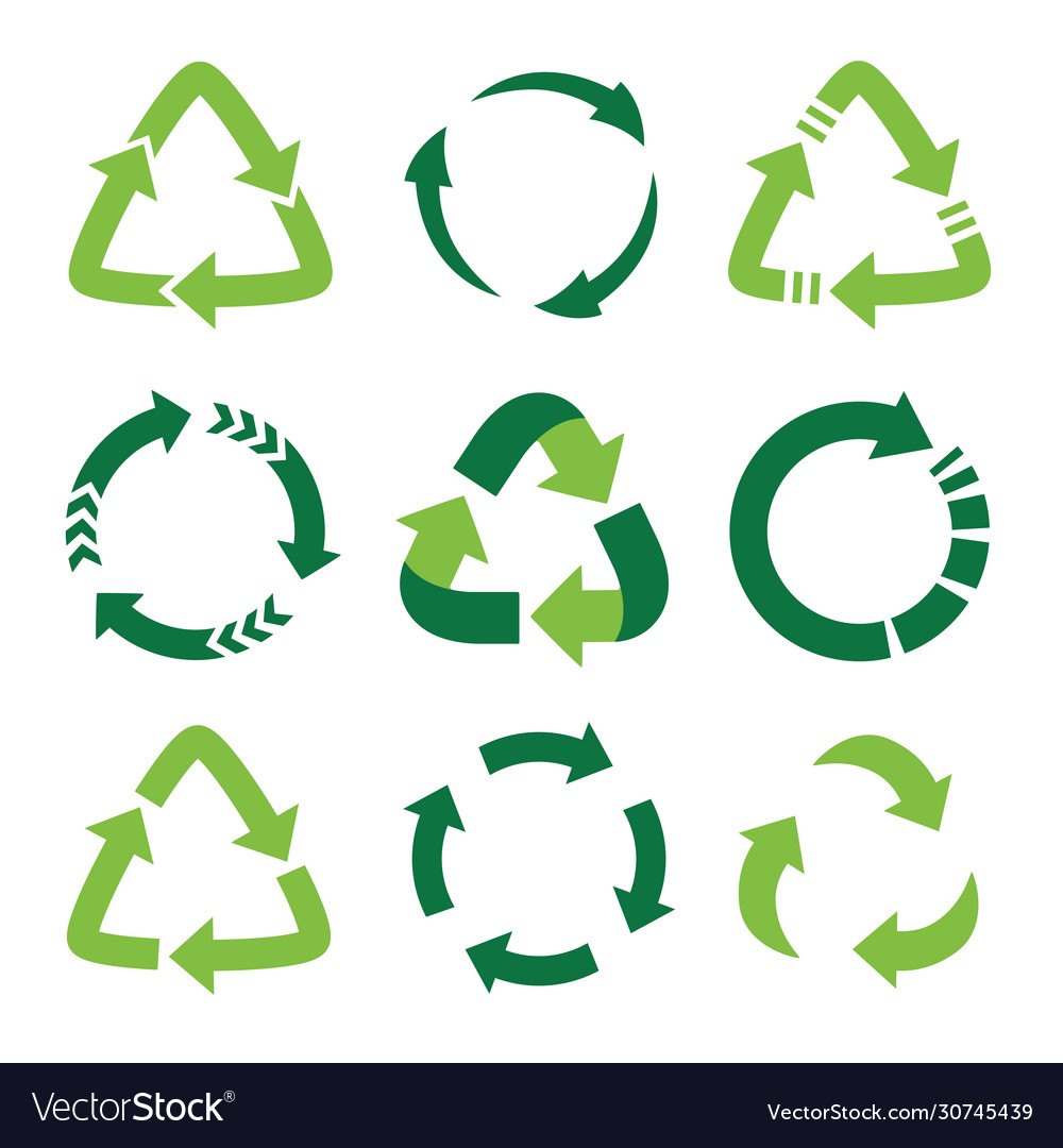 Recycling symbol ecologically pure funds set