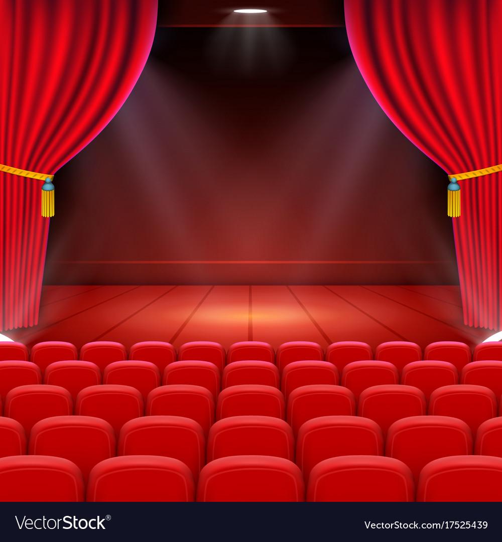Scene cinema background art performance on stage