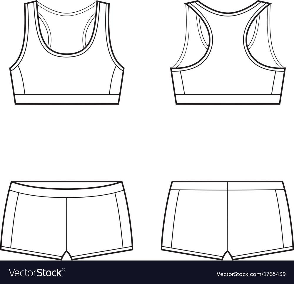 99ab7621217f5 Sport underwear Royalty Free Vector Image - VectorStock
