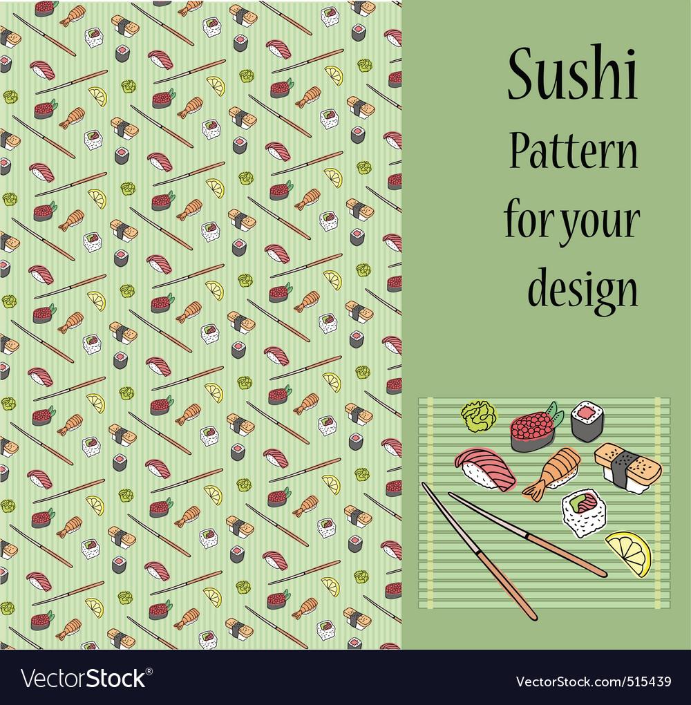 Sushi pattern vector image