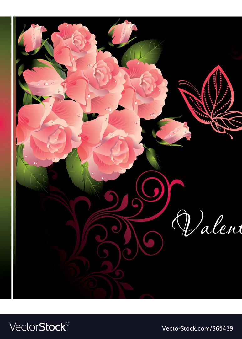 Valentine rose illustration