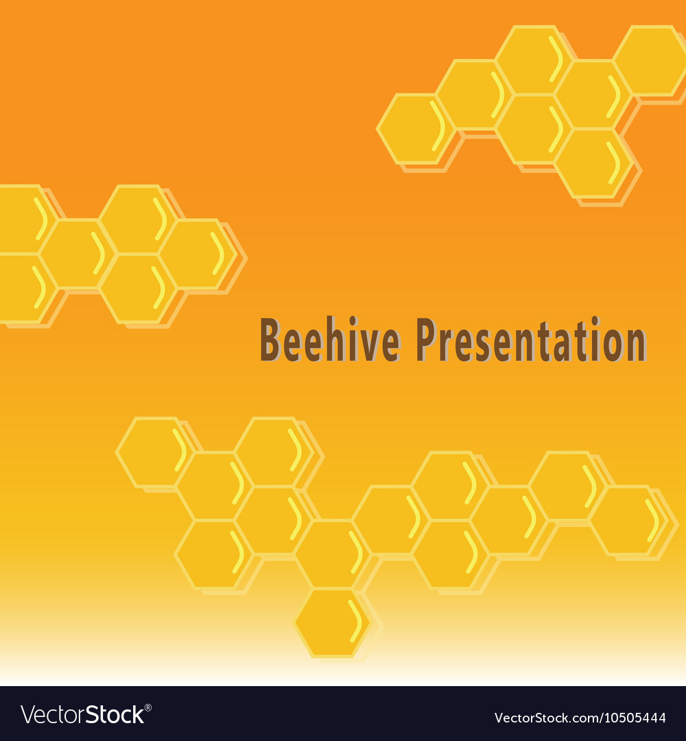 Beehive presentation background vector image
