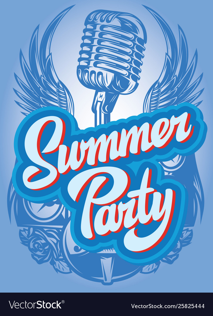 Color poster template for summer party