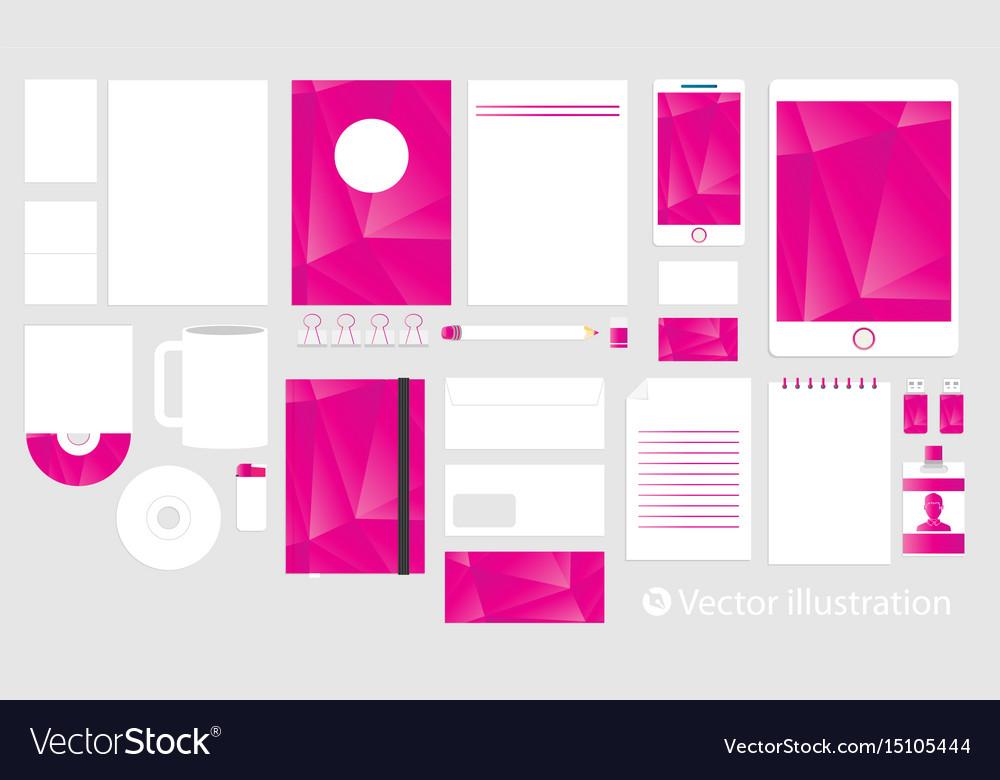 Corporate identity template set business