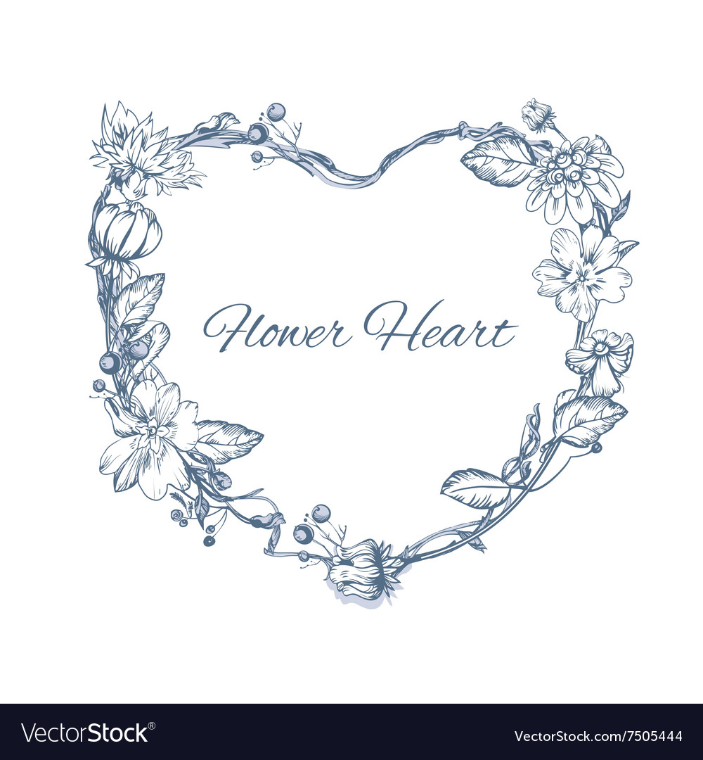 Floral element for wedding invitation cards vector image