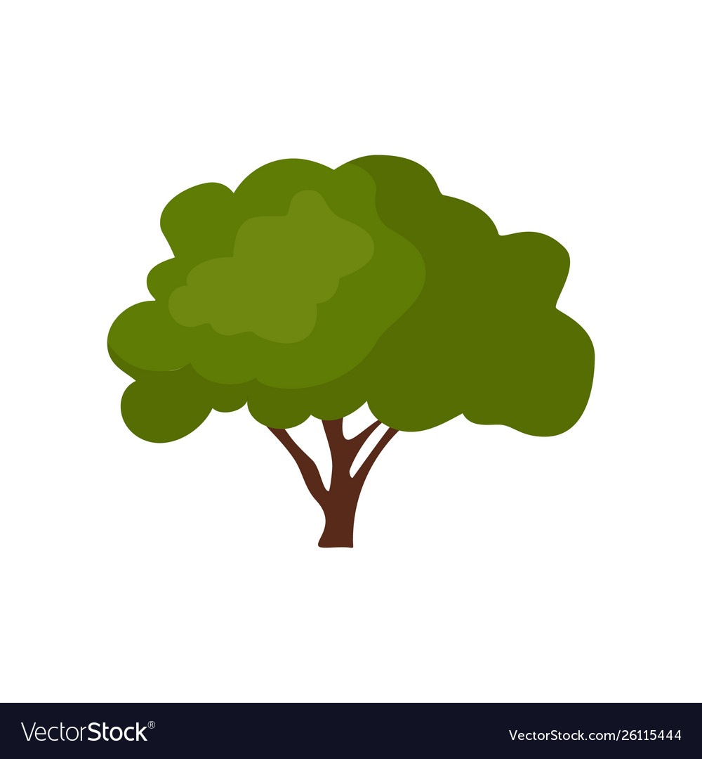 Green trees icon design isolated on white