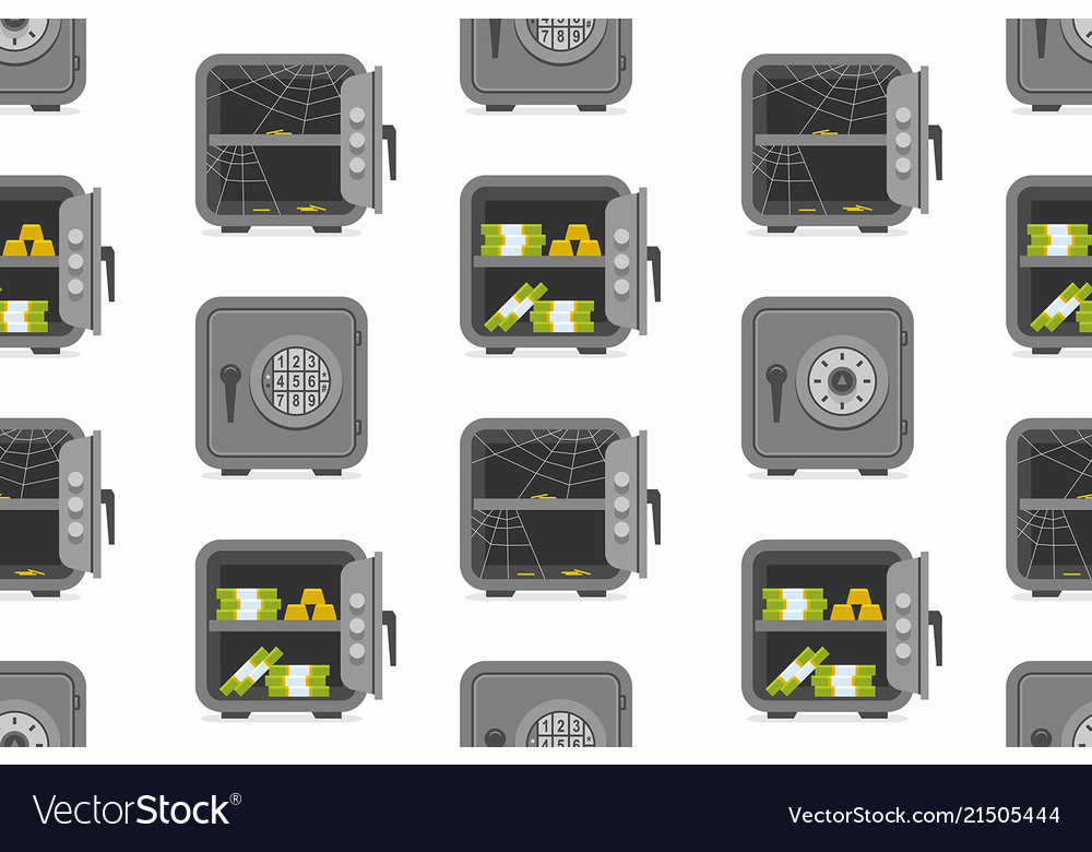 Seamless pattern with security metal safes
