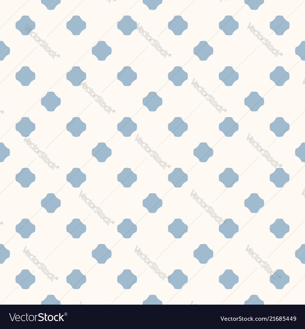 Abstract minimal blue polka dot seamless pattern