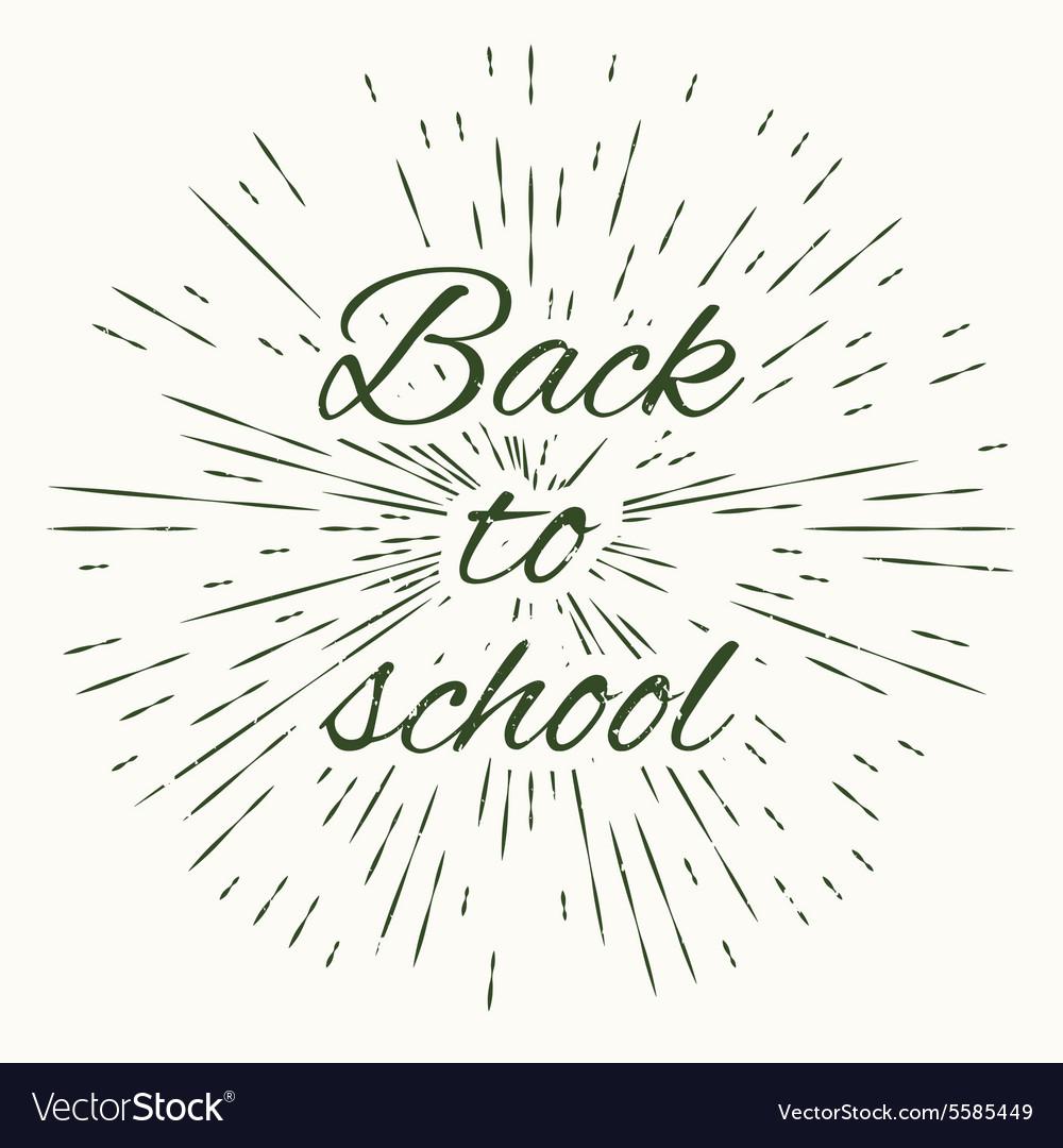 Back to school and vintage sun burst frame