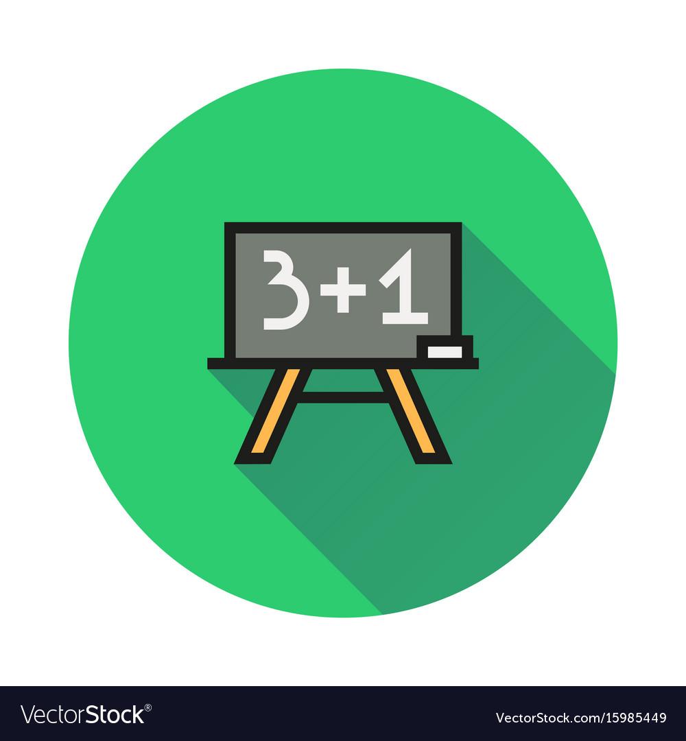 Blackboard icon on round background vector image