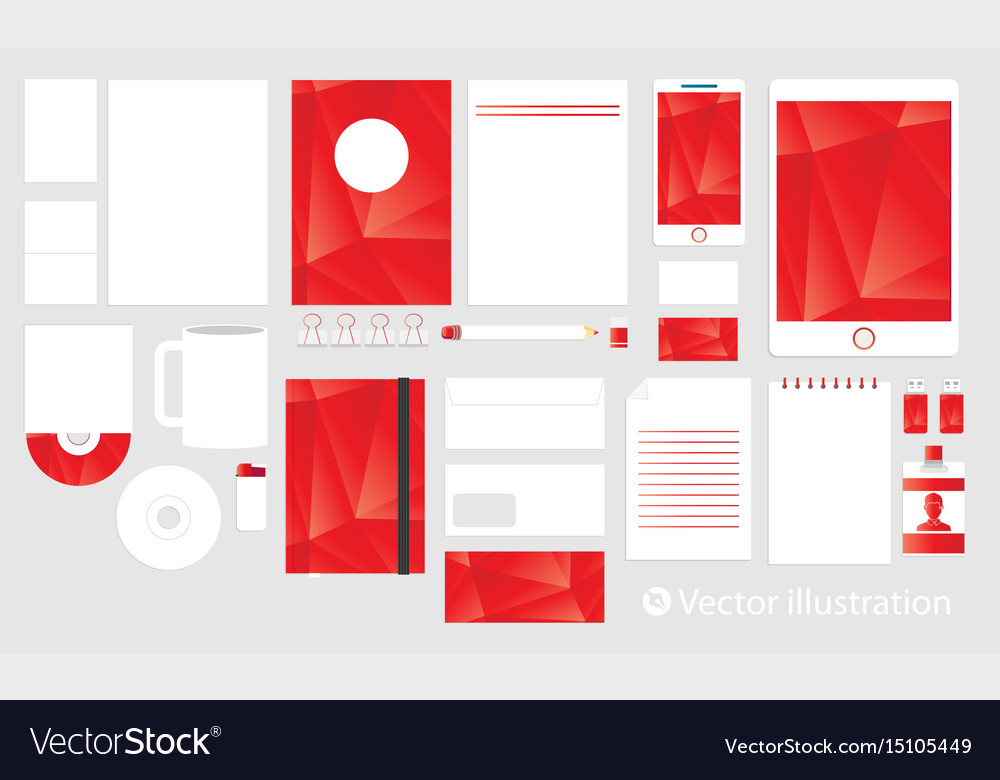 Corporate identity template set business